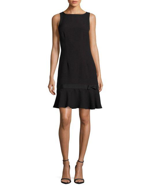 Karl Lagerfeld - Black Sleeveless Peplum A-line Dress - Lyst