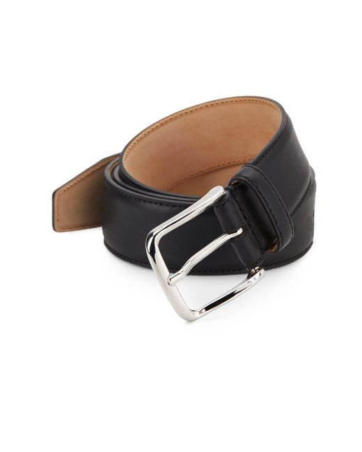 Saks Fifth Avenue - Metallic Leather Belt for Men - Lyst