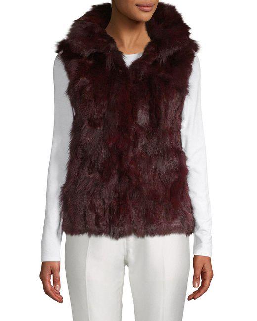 Adrienne Landau - Multicolor Dyed Fox And Rabbit Fur Vest - Lyst