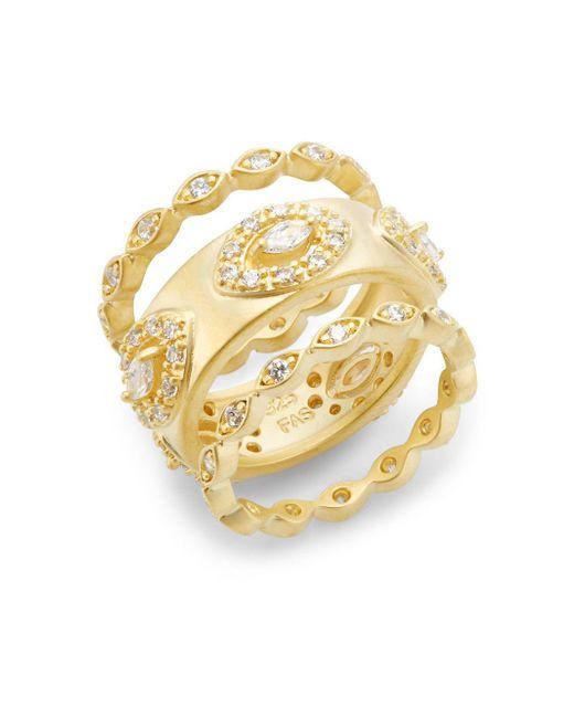 Freida Rothman - Metallic Marquis Ring Set - Lyst