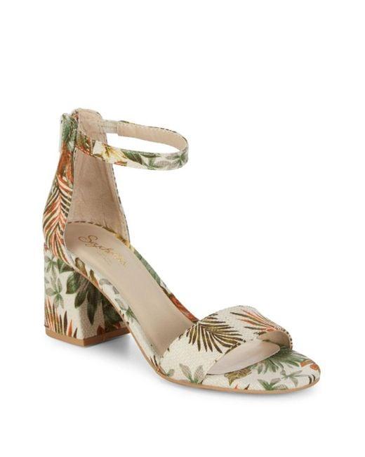 Seychelles - Multicolor Tropical Block Heel Sandals - Lyst