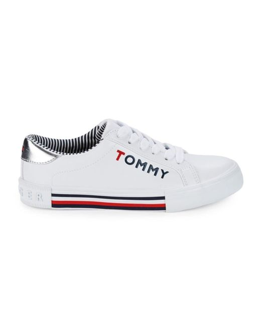 Tommy Hilfiger White Kery Logo Sneakers