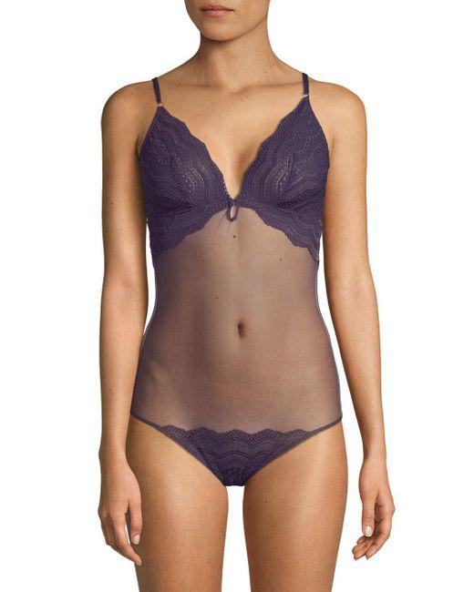 Cosabella - Blue Ceylon Lace-trim Teddy - Lyst