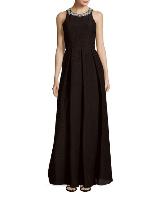 Notte by Marchesa   Black Sleeveless Pleated Dress   Lyst