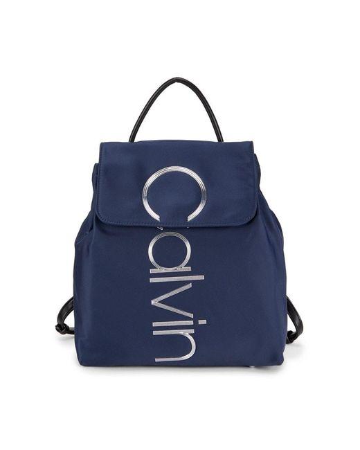 Calvin Klein Women's Mallory Nylon Backpack - Black