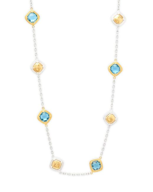 Gurhan - Metallic Swiss Blue Topaz, Sterling Silver And 24k Yellow Gold Necklace - Lyst