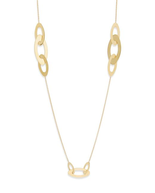 Roberto Coin - Metallic 18k Yellow Gold Chic Ring Necklace - Lyst