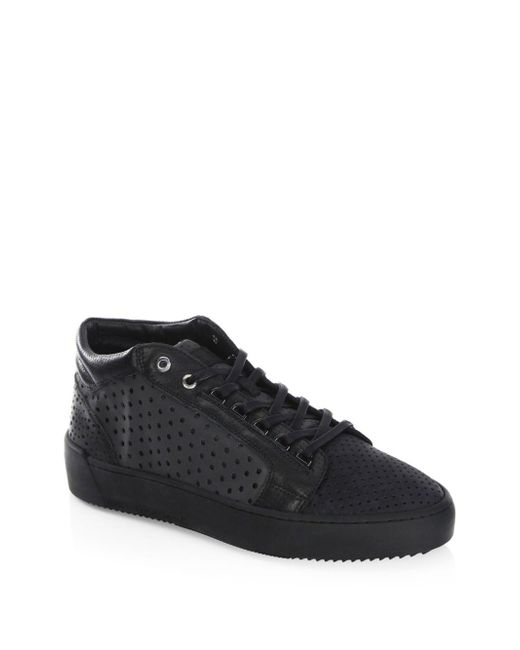 Android Homme - Black Leather Mid-top Sneakers for Men - Lyst
