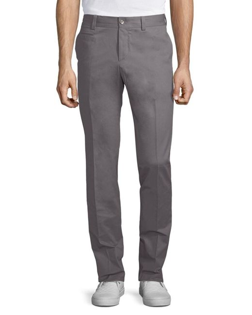 GTA Gray 1955 Men's Solid Cotton Trousers - Grey - Size 56 (40) for men