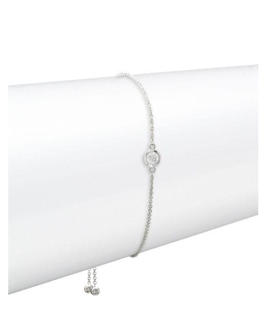 Effy - Diamond And 14k White Gold Bracelet, 0.15 Tcw - Lyst