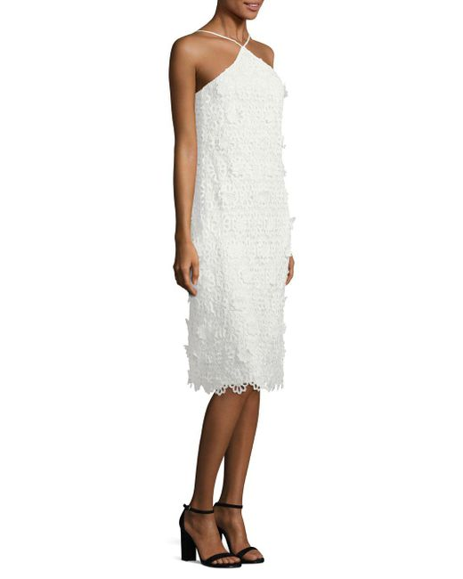 Trina Turk - White Conga Lace Halter Dress - Lyst