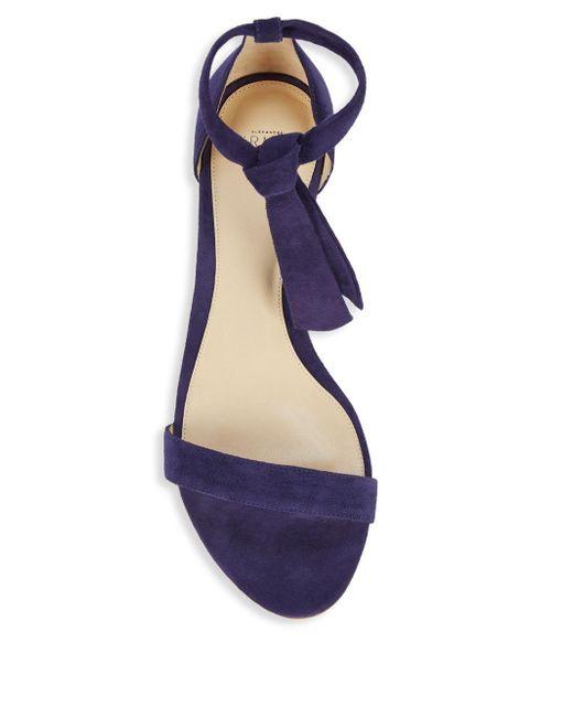 27a6eb63b5ec ... Alexandre Birman - Blue Clarita Suede Demi Wedge Sandals - Lyst ...