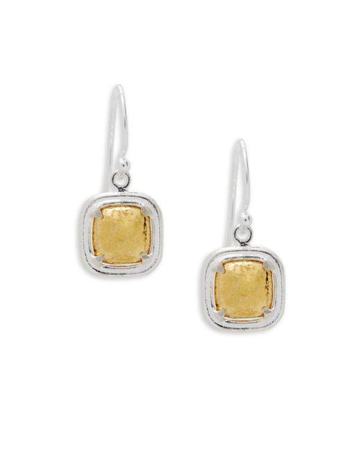 Gurhan - Metallic Sterling Silver & Goldplated Drop Earrings - Lyst