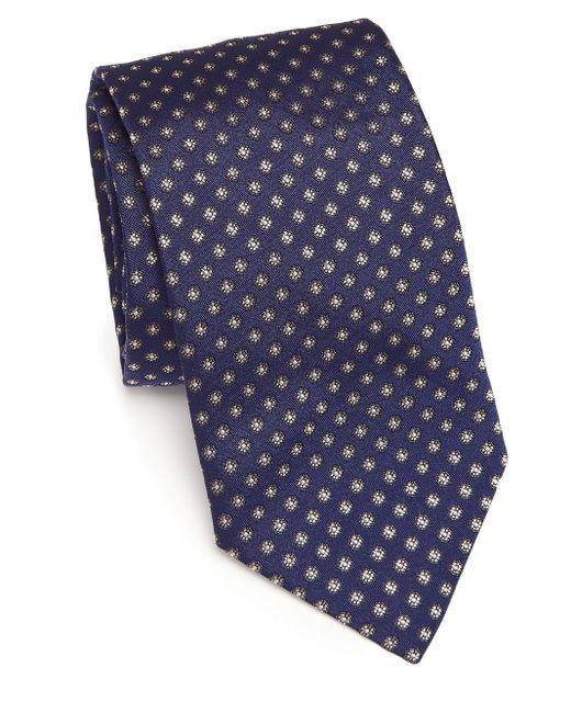 Eton of Sweden Blue Floral Silk Tie for men