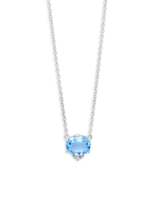 Lyst judith ripka blue quartz sterling silver pendant necklace judith ripka blue quartz sterling silver pendant necklace aloadofball Gallery