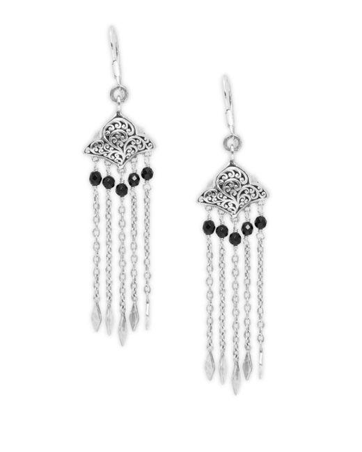 Lois Hill | Metallic Signature Sterling Silver Drop Earrings | Lyst