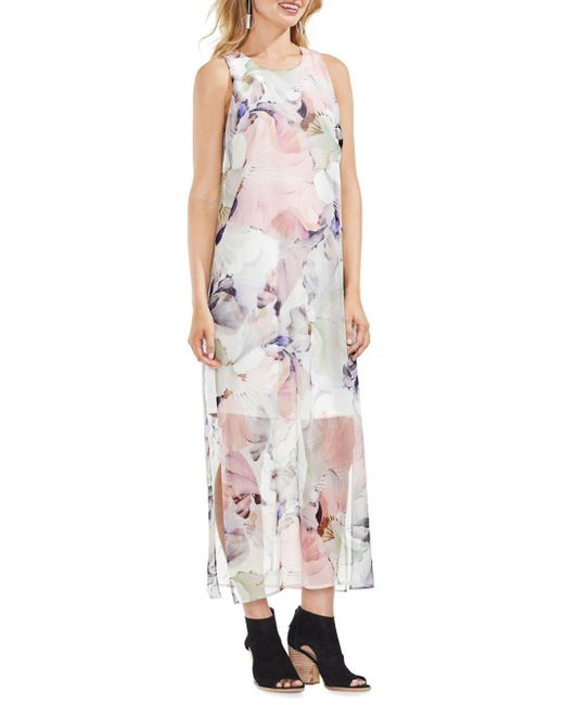 Vince Camuto - Multicolor Diffused Floral Maxi Dress - Lyst