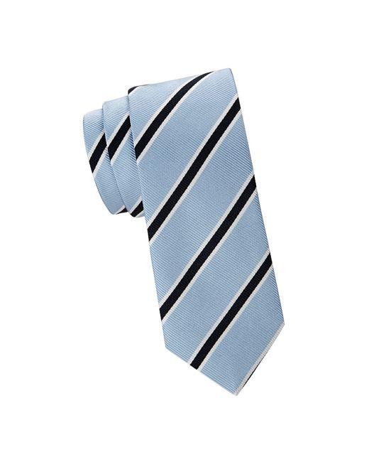 Saks Fifth Avenue Blue Stripe Silk Tie for men
