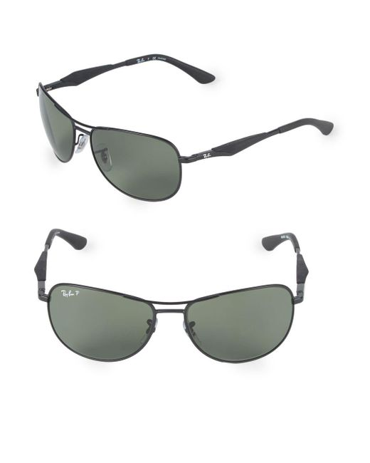 Ray-Ban Black 59mm Polarized Pilot Sunglasses