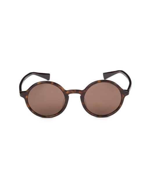 Dolce & Gabbana Brown Women's 49mm Round Sunglasses - Havana