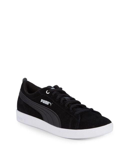 PUMA - Black Smash Suede Sneakers for Men - Lyst ... d9f23778a