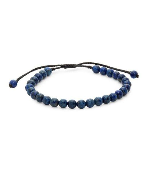 Link Up - Blue Lapis Beaded Bracelet - Lyst