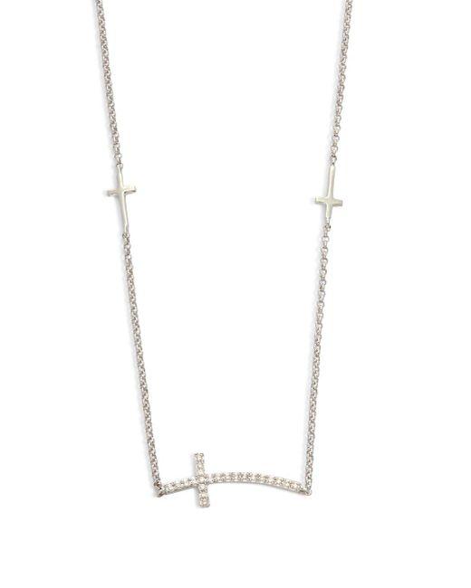 Saks Fifth Avenue | Diamond & 14k White Gold Necklace | Lyst