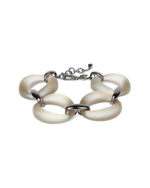 Alexis Bittar Metallic Women's Lucite Organic Link Soft Bracelet