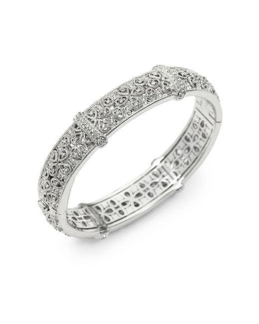Adriana Orsini | Metallic Pavà Filigree Bangle Bracelet | Lyst