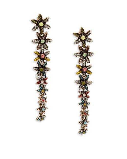 Cara | Metallic Daisy Linear Earrings | Lyst