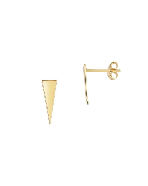 Saks Fifth Avenue Metallic Women's Geometric 14k Yellow Gold Stud Earrings