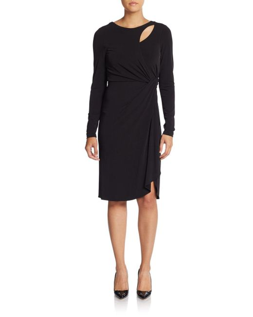 Catherine Malandrino - Black Gordo Cutout Jersey Dress - Lyst