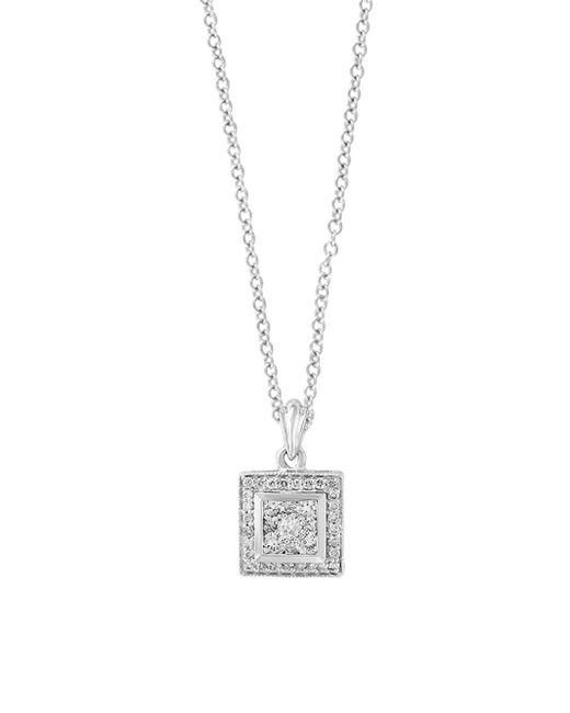 Effy - Metallic Diamond And 14k White Gold Pendant Necklace, 0.37 Tcw - Lyst