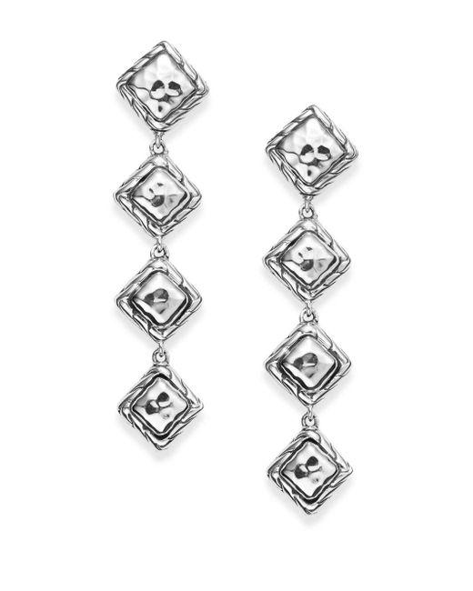 John Hardy - Metallic Four-dangle Sterling Silver Linear Drop Earrings - Lyst