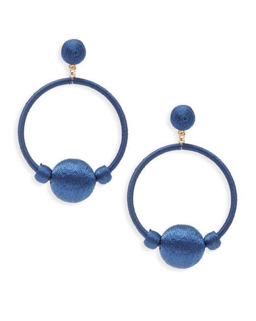 Gemma Simone | Blue Round Drop Earrings | Lyst