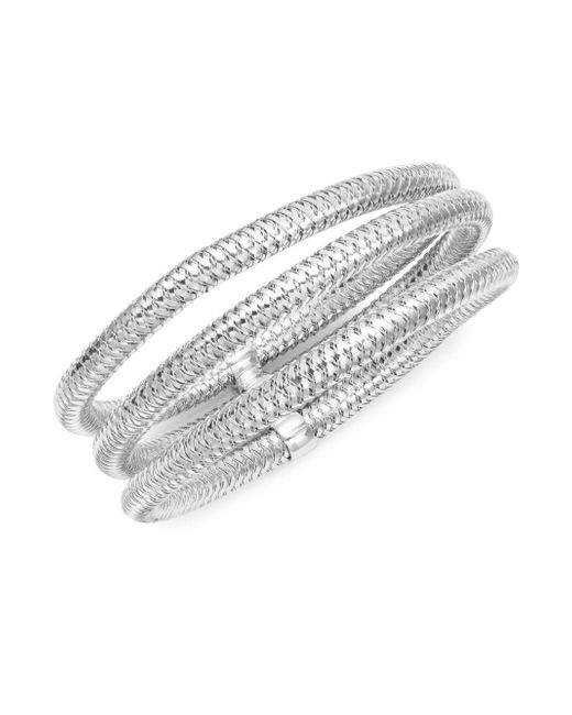 Roberto Coin | Metallic 18k White Gold Multi-strand Bracelet | Lyst