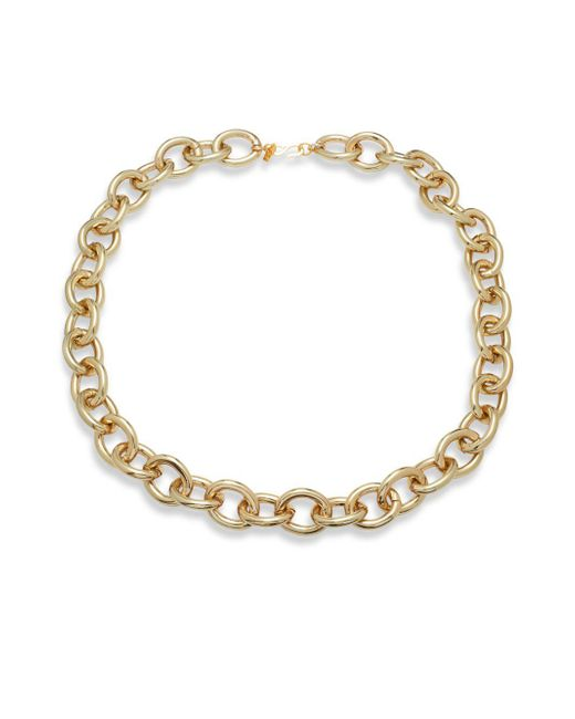Kenneth Jay Lane | Metallic Polished Goldtone Chain Link Necklace | Lyst