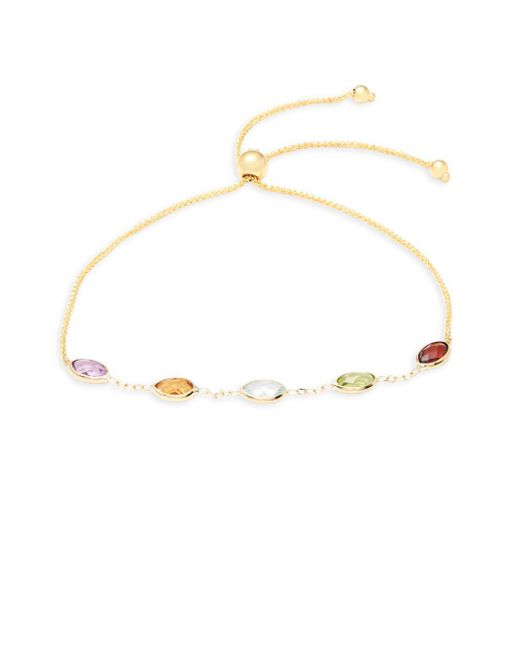 Saks Fifth Avenue | Metallic 14k Gold Single Bolo Strand Bracelet | Lyst