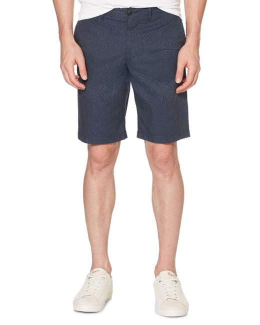 Original Penguin - Blue Triangle Dobby Cotton Shorts for Men - Lyst