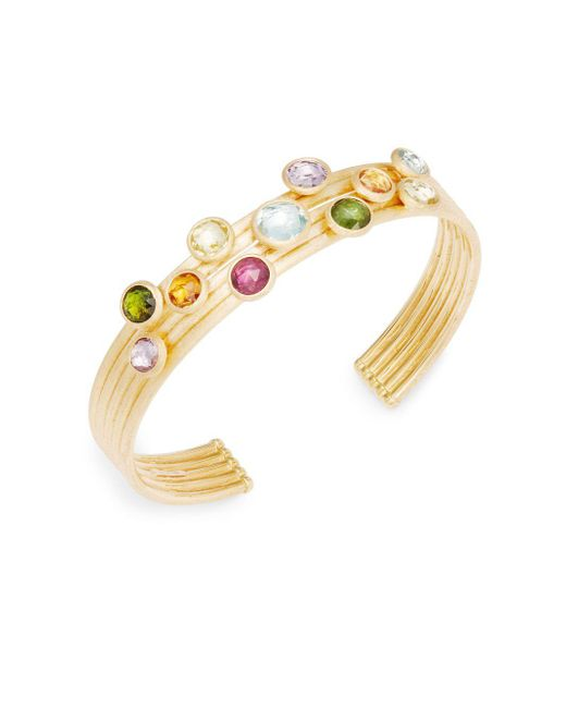 Marco Bicego - Gray Multi-stone 18k Yellow Gold Bracelet - Lyst