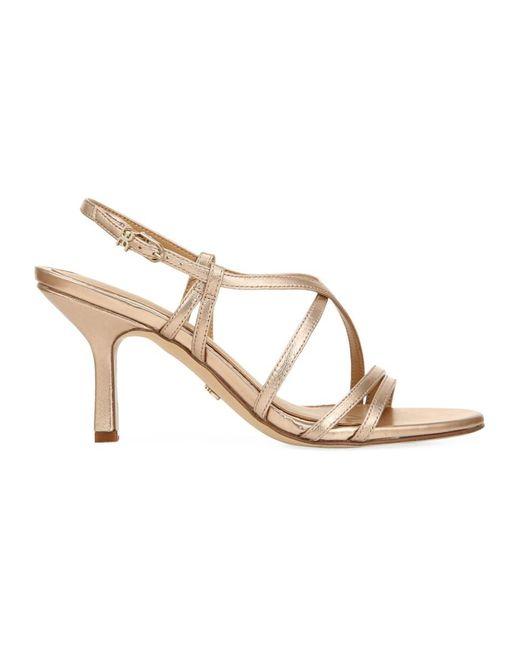 Sam Edelman Women's Paislee Metallic Leather Slingback Sandals - Champagne - Size 6