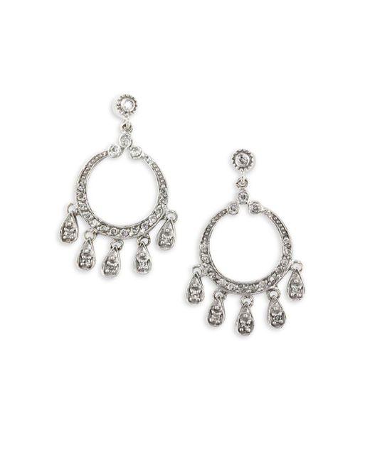 Effy | Metallic 0.45 Tcw Diamond & 14k White Gold Chandelier Drop Earrings | Lyst