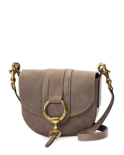 Frye - Gray Ilana Harness Small Leather Saddle Bag - Lyst