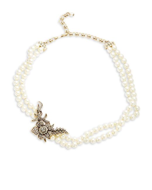 Heidi Daus | White Faux Pearl Necklace | Lyst