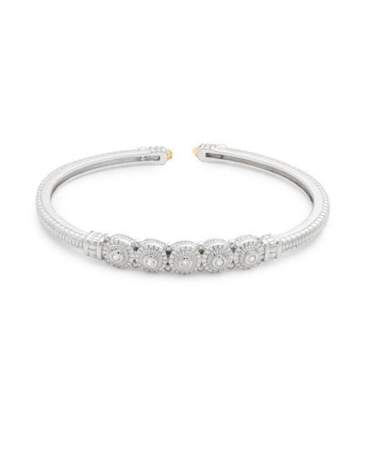 Judith Ripka - Metallic Citrine, White Sapphire & Sterling Silver Cuff Bracelet - Lyst