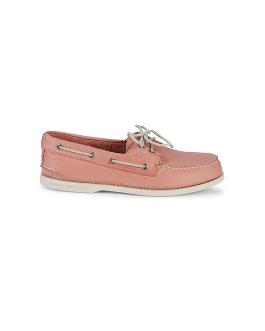 Sperry Top-Sider Pink Authentic Original 2-eye Leather Boat Shoes for men