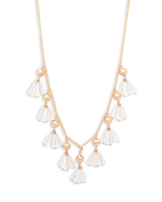 Natasha Couture - Metallic Shaky Rope Lucite Necklace - Lyst