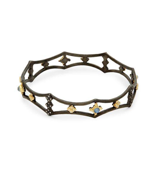 Armenta - Black Old World Diamond Cutout Bangle Bracelet - Lyst