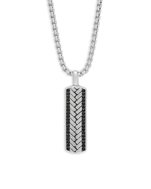 Effy - Metallic Black Sapphire And Sterling Silver Pendant Necklace for Men - Lyst