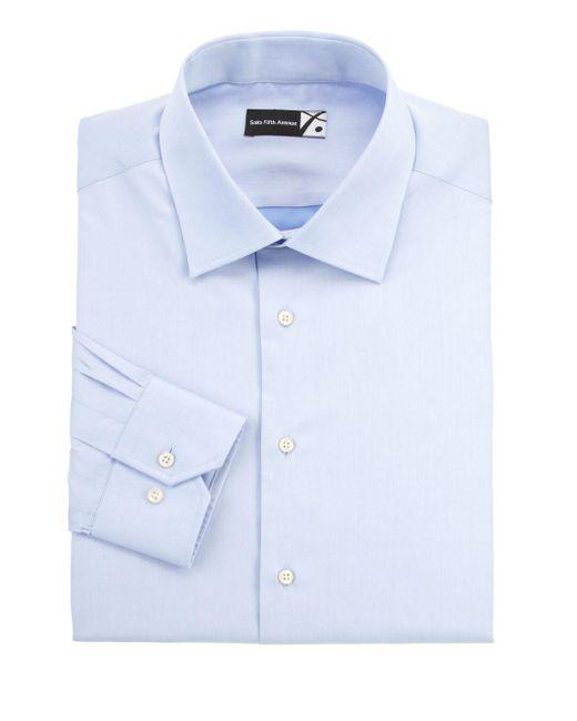 Saks Fifth Avenue - White Regular-fit Dress Shirt for Men - Lyst